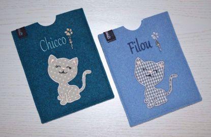 Bild von Heimtierausweishülle Katze personalisiert
