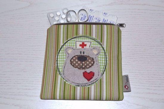 Bild von Mini-Apotheke BärBel Stripes grün/beige