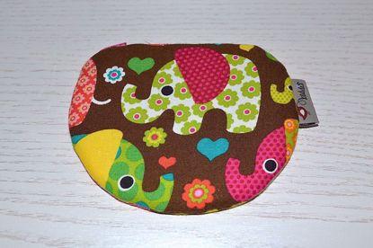 Bild von Minibörse Elefanten braun/pink