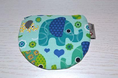 Bild von Minibörse Elefanten blau/mint