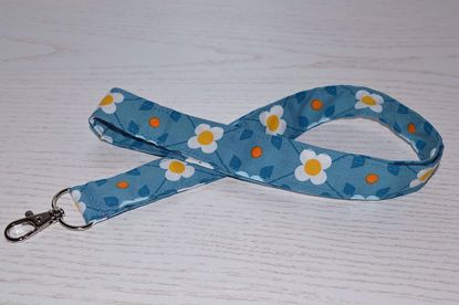 Bild von Schlüsselband Blumen blau/gelb