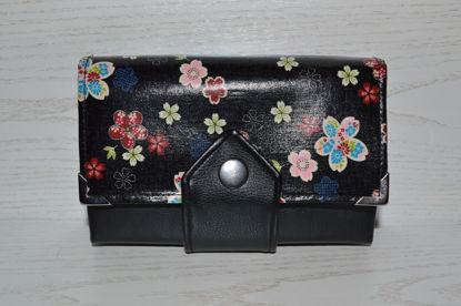 Bild von Geldbörse Blumenwiese schwarz/bordeaux