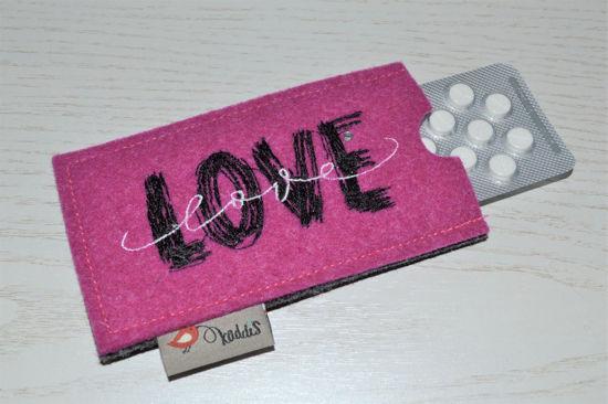 Bild von Tabletten-Etui Love pink/anthrazit
