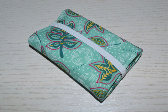 Bild von Globuli-Etui Blätterranken mint/petrol