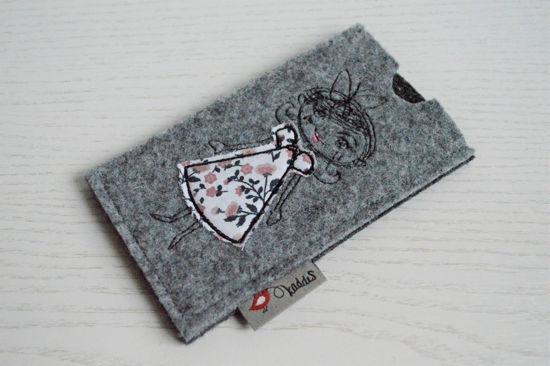 Bild von Tabletten-Etui Mäderl grau/rosa