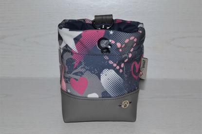 Bild von Futterbeutel Graffiti Kunstleder/Softshell grau/pink
