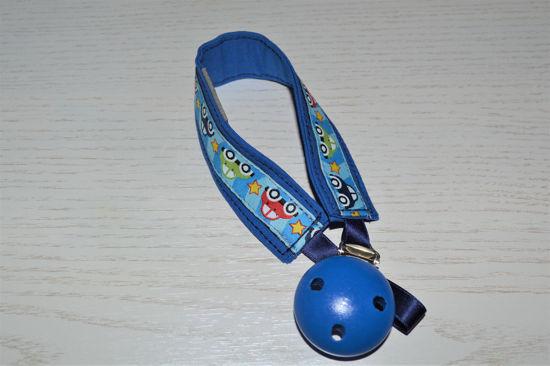 Bild von Schnullerband Autos blau