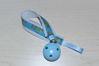 Bild von Schnullerband Traktor blau