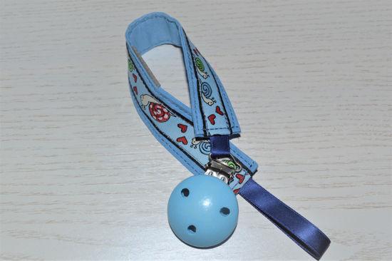 Bild von Schnullerband Schneckerl blau