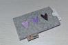 Bild von Tabletten-Etui Herz-Trio lila/grau