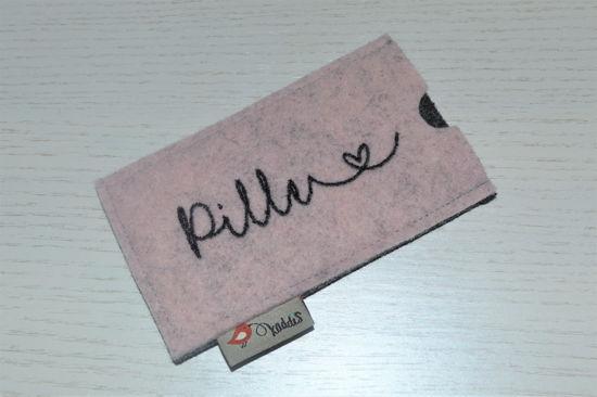 Bild von Tabletten-Etui Pille rosé/grau