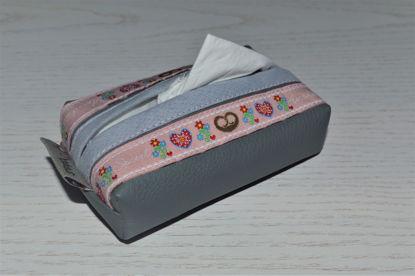 Bild von Taschentuchtascherl Kunstleder grau Breze